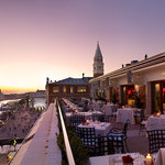 Panoramic terrace overlooking the Venice lagoon