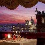 Romantic dining over Santa Maria della Saute and Palazzo Ducale