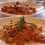 Spaghetti with Lump Crab Meat & Red Grape Tomato