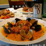 Monkfish with Mussels & Clams in a Tomato Broth