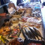 fresh fish counter
