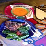 My Quiche w/Artichokes and Creamy Tomato Basil Soup.