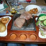 hot stone to cook your steak
