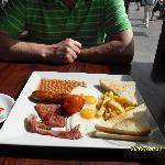 seaside breakfast, only 2 euros!