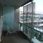 Balcony (and Cruise Passenger Terminal behind)