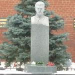 Stalin's grave - located outside, behind Lenin's Mausoleum