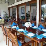 Sotuh Point Villa dining on the veranda
