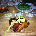 Boneless pork knuckle, green beans and Gambrinus!