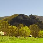 Seneca Rocks as seen from campground