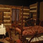 furnishing inside log cabin display