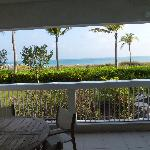 Patio looking out at Grace Bay