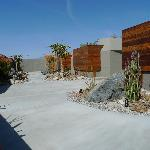 Front courtyard in front of the 3 units with privacy wall