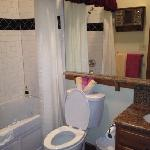 bathroom cabin 5. nice and clean, plush towels, bathrobes provided, nice shampoo, conditioner, b