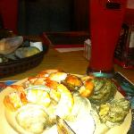 steamed oysters and shrimps cooked many ways!!!