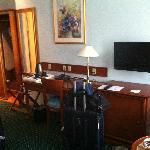 Desk, TV and closet