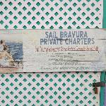 sign for Bravura at Leverick Bay