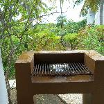 Outdoor bbq at our villa