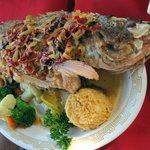 The whole snapper w/ ajillo sauce - amazing