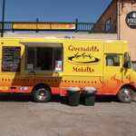 Moab's Gormet Food Truck!  Setup in its usual spot by the Cayonlands Trading Post.