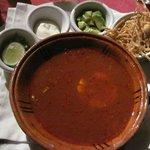The tortilla soup - so tasty; enselada cilantro was great, too