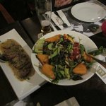 Steak appetizer and Salad - amazing!