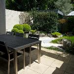 Breakfast in Japanese garden