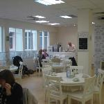 Beautifully decorated with matching wall paper and curtins. A real treat for the customers.