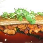 slow roasted belly pork chorizo and bean casserole