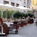 Summer terrace at Taverna Re Artu
