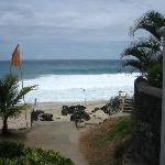 vue sur plage de la terrasse