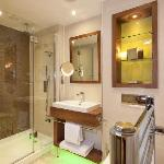 Luxury toiletries, rainfall showers, heaven!