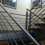 hacia el tercer piso del hotel