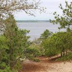 View of Cape Fear from top of Sugarloaf Dune