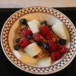 Fresh fruit and berries... very fresh...