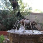 Great ant on top of fountain