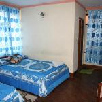 Large double room with extra bed