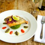 Seared Sea bass fillet
