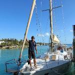 Captain Ali and his sailboat