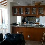 looking at kitchen from living rm