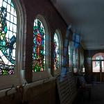 Peeking inside the church