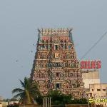 Temple Gopuram (this pic was taken from the moving train)