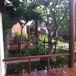 View from the veranda of the rooms