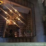 vue sur le hall d'accueil du chateau