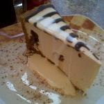 Cheesecake, with chocolate running through