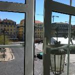 la splendida vista della piazza
