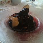 crema bavarese con cioccolato caldo