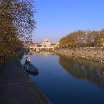 View from the bridge at Lungotevere Tor di Nona, the bridge closest to the hotel
