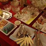La mesa con la comida