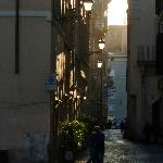 Early morning on Via dei Coronari