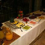 El buffet del desayuno. Sin excesos